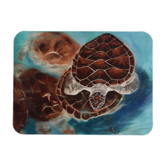 Turtle Time Rectangular Magnets