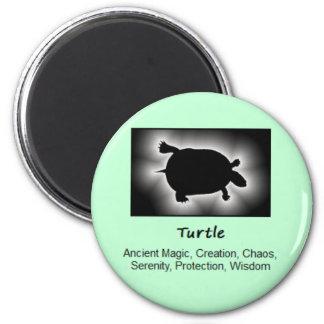Turtle Totem Animal Spirit Meaning 2 Inch Round Magnet