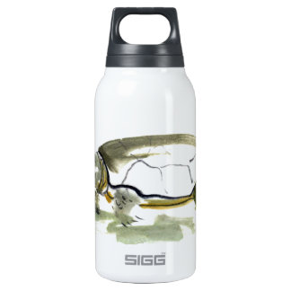 Turtle, traditional Sumi-e in color Insulated Water Bottle