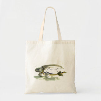 Turtle, traditional Sumi-e ink painting Tote Bag