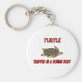 Turtle trapped in a human body key chains