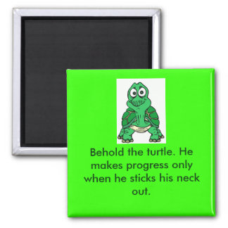 Turtle Truth 2 Inch Square Magnet