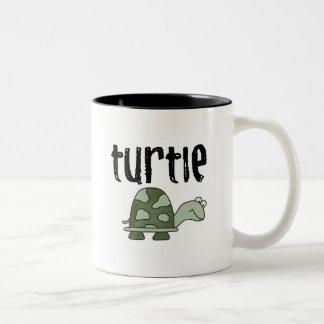 Turtle Tshirts and Gifts Two-Tone Coffee Mug