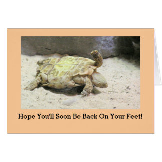 """""""TURTLE TURNED ON ITS BACK"""" GET WELL CARD"""