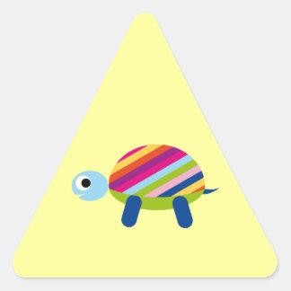 Turtle Turtles Tortoise Testudines Cartoon Animal Triangle Sticker
