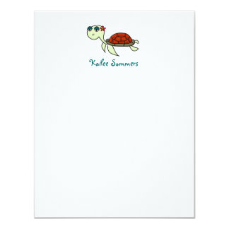 Turtle, Under the Sea Personal Stationery Card