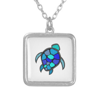 TURTLE UP SILVER PLATED NECKLACE