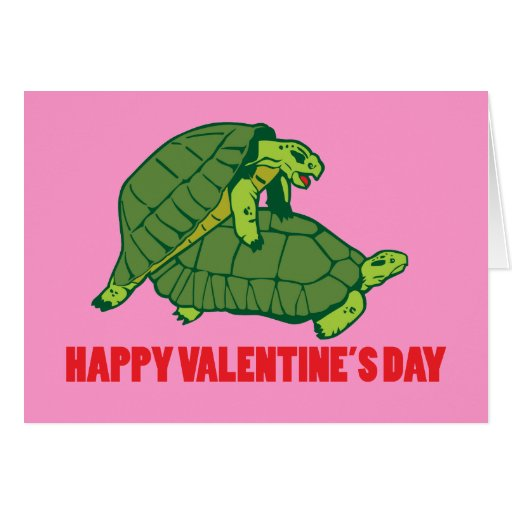 Turtle Valentine Greeting Card