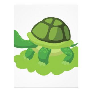 turtle walking in the grass letterhead