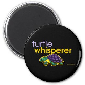Turtle Whisperer 2 Inch Round Magnet