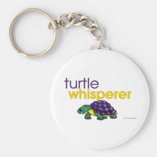 Turtle Whisperer Basic Round Button Keychain