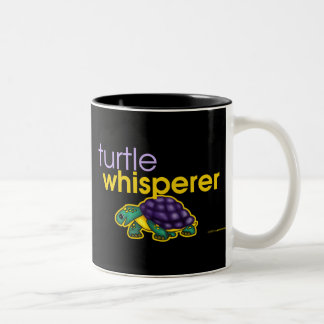 Turtle Whisperer Two-Tone Coffee Mug