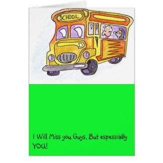 Turtle will miss you card