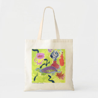 Turtle with a cup of tea tote bag