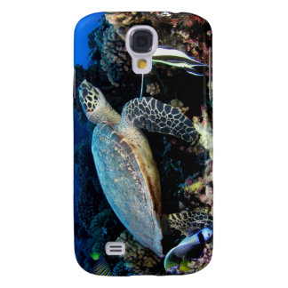 Turtle with Fish iPhone3 case Galaxy S4 Cases
