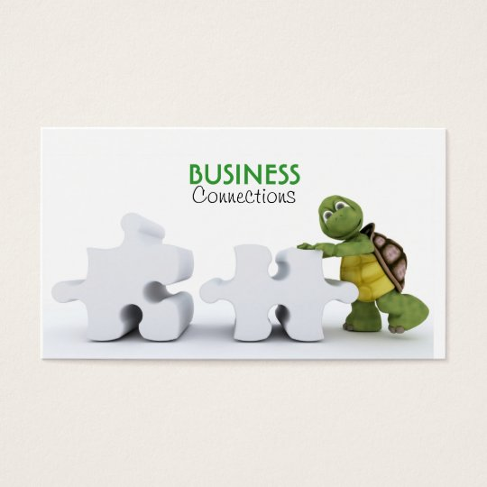 Turtle with Jigsaw Piece Business Card