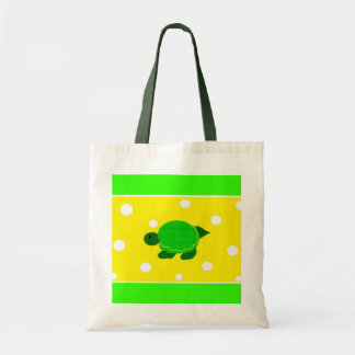 Turtle with Polka Dots Tote Bag