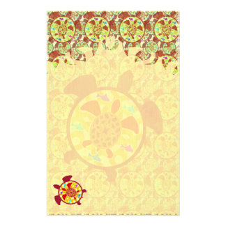 Turtle Within Turtle Flame Stationery