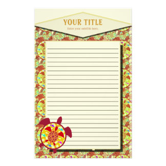 Turtle Within Turtle Lined Stationery