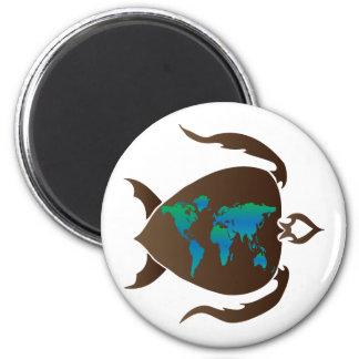 Turtle-world 2 Inch Round Magnet