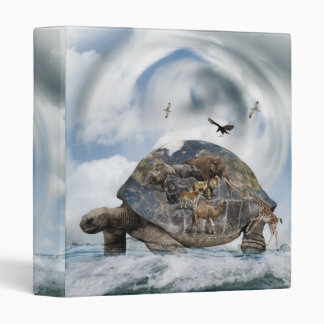 Turtle World Animals Binder