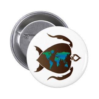 Turtle-world 2 Inch Round Button