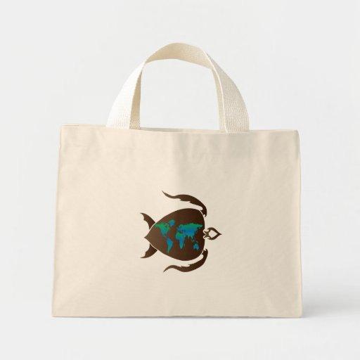 Turtle-world Canvas Bag