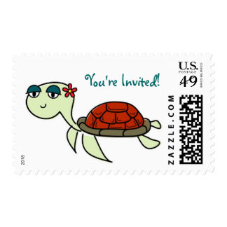 Turtle, You're Invited! Postage Stamp