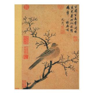 Turtledove Calling for Rain by Shen Zhou Postcard