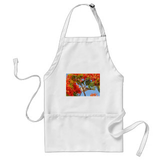 Turtledove in a flowering tree adult apron