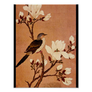Turtledove on Flowering Branch_The Orient Poster