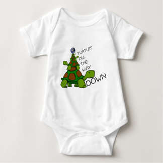 Turtles All The Way Down Baby Bodysuit