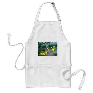 Turtles and pond adult apron