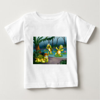 Turtles and pond baby T-Shirt