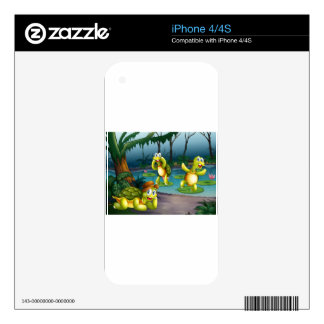 Turtles and pond skin for iPhone 4