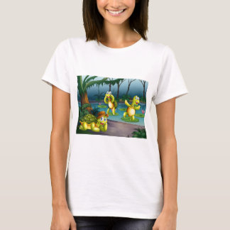 Turtles and pond T-Shirt