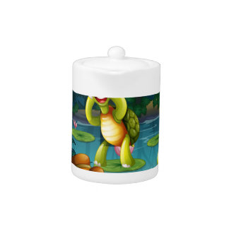 Turtles and pond teapot