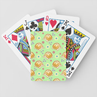 Turtles and Spring Flowers Pattern Deck Of Cards