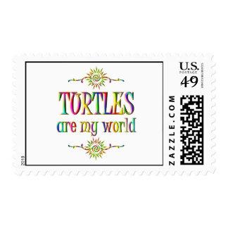 TURTLES are my world Stamp