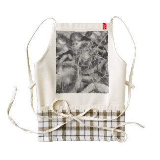Turtles at a conference zazzle HEART apron