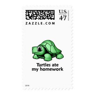 Turtles ate my Homework Stamp