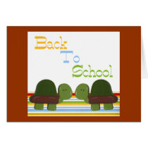 Turtles back to school -  Customized Card