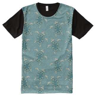 turtles background All-Over print t-shirt