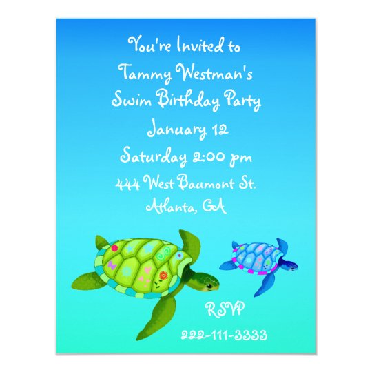 Turtles birthday invitation zazzle turtles birthday invitation filmwisefo
