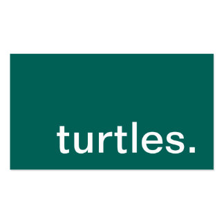turtles. business card