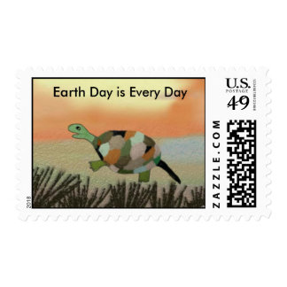Turtles Earth Day is Every Day Postage Stamps