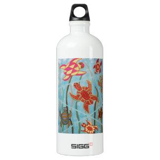 Turtles Galore Aluminum Water Bottle