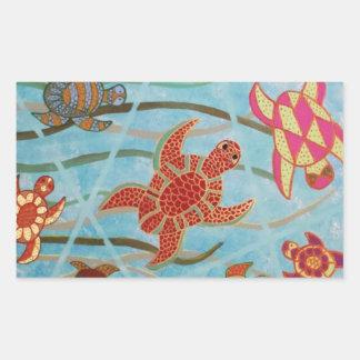 Turtles Galore Rectangular Sticker
