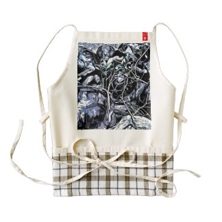 Turtles in a meeting zazzle HEART apron