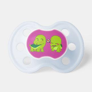 Turtles in love pacifier